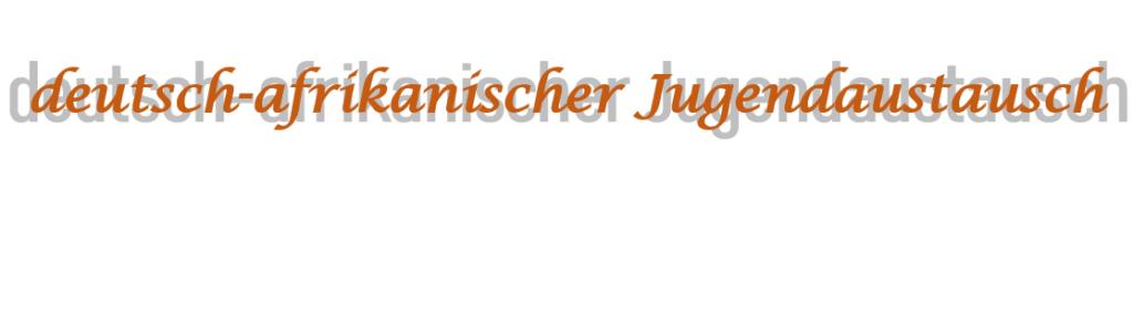 Informationsveranstaltung: deutsch-afrikanischer Jugendaustausch im Sport