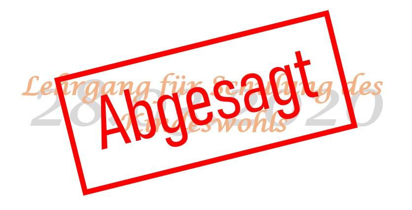 Absage des Lehrgangs für Schulung des Kindeswohl am 28.03.2020 in Alsfeld